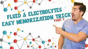 Fluid And Electrolytes Easy Memorization Trick  Part 4
