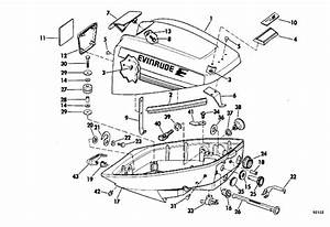 Evinrude Motor Cover Parts For 1979 9 9hp 10924b Outboard