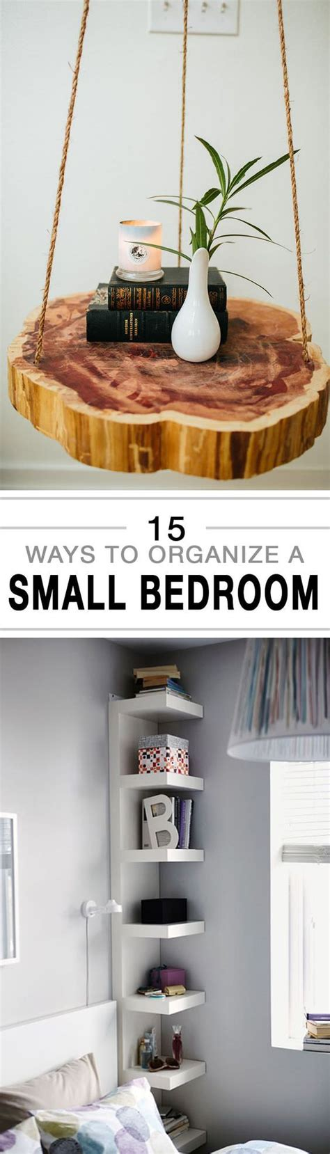 15 Ways To Organize A Small Bedroom  House Good