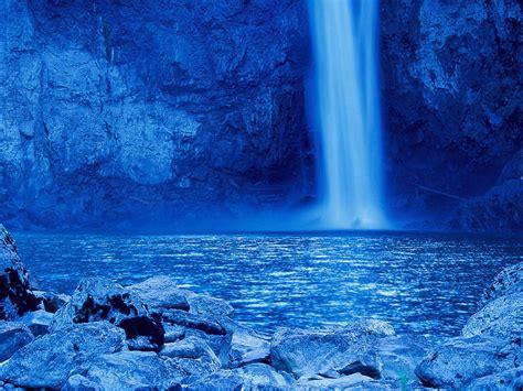 blue waterfall wallpaper gallery