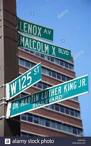 Street Signs 125th Street Martin Luther King Jr Boulevard ...