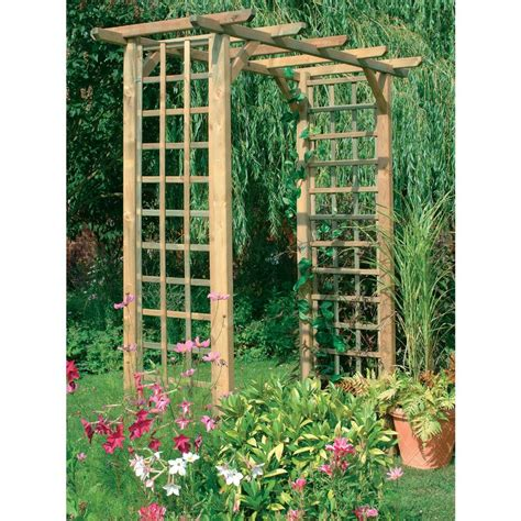 Square Wood Trellis by Wide Classic Square Timber Garden Arch Trellis Archway