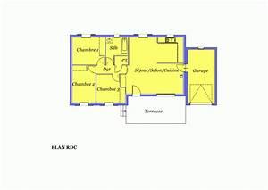 modele villa traditionnelle de 80m2 pp lys a construire With plan de maison de 80m2 plein pied