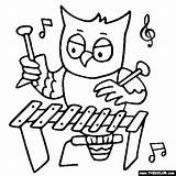 Coloring Music Xylophone Owl Recorder Pages Kindergarten Instruments Sheets Classroom Elementary Worksheets Colouring Thecolor Primary Musical Playing Animals Printable Class sketch template