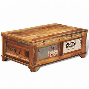 vidaxlcouk reclaimed wood storage box coffee table With reclaimed wood coffee table with storage