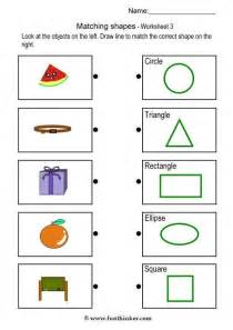 Matching Objects Kindergarten Worksheets Shapes