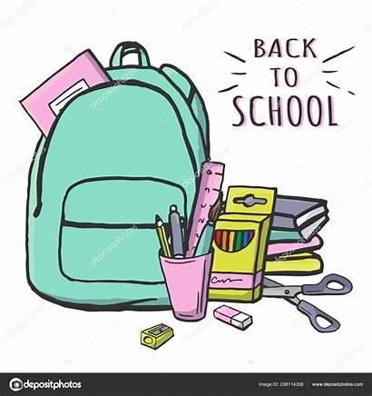 Cartoon Supplies Pastel Stationery Schoolbag Pencil Bag
