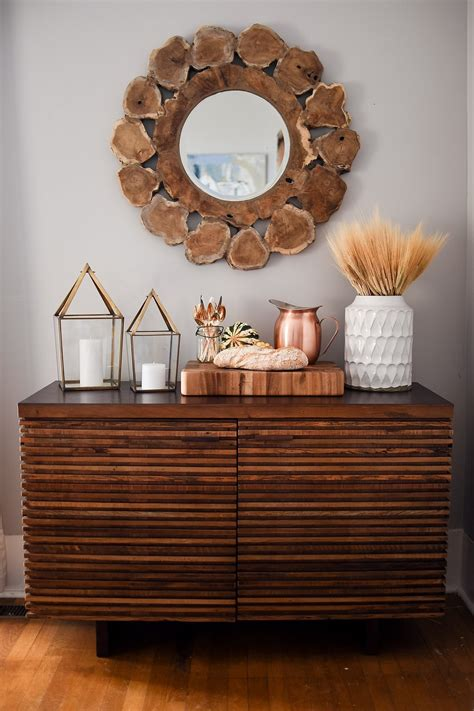 Decorating A Sideboard by Festive Sideboard Decorating Ideas Crate And Barrel