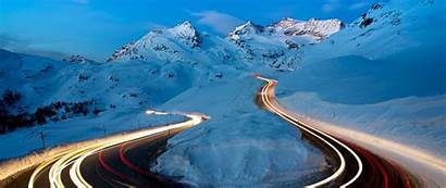 Winter Road Exposure Snow 1080p Wide Dual