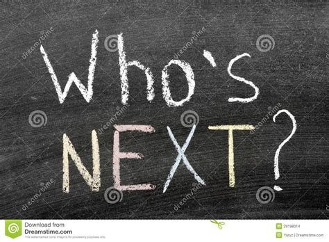 Who's next? stock illustration. Image of next, yellow ...