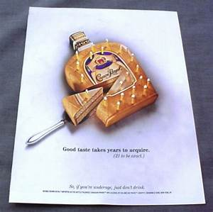 Magazine Ad for Crown Royal, 2001, Bottle Shaped Cake with ...