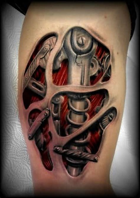biomechanical tattoos  men ideas  inspiration  guys