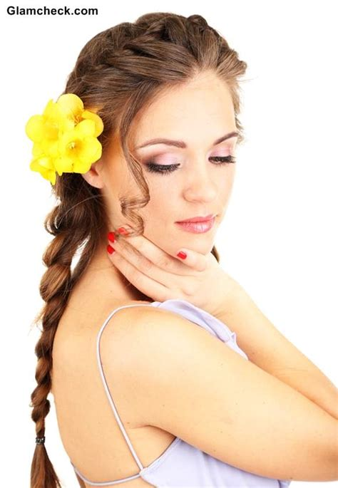 hairstyle    ways  styling french braid  flowers