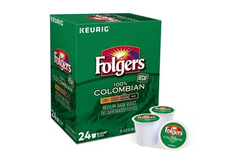 Search instead for folgers decaf k cups ? Folgers, 100% Colombian Decaf Coffee, Keurig K-Cups, 48-Count 25500200279 | eBay