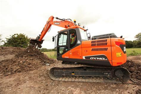doosan improves  tonne excavator