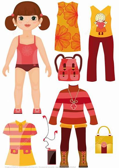 Doll Paper Accessories Clothing Casual Dolls Printable