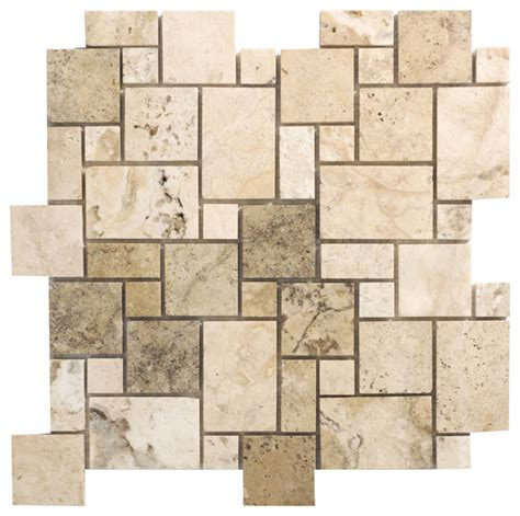 Versailles Tile Pattern History by Picasso Travertine Series Mini Versailles Pattern Mosaic
