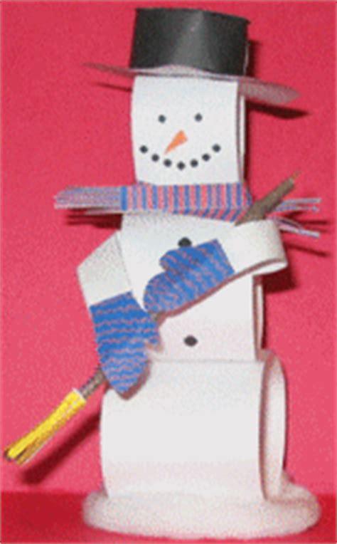 printable  paper snowman paper snowman model