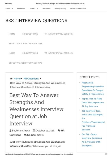 weaknesses interview examples world