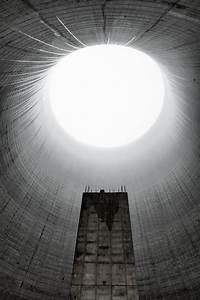 Inside the unfinished cooling tower at Satsop Nuclear ...