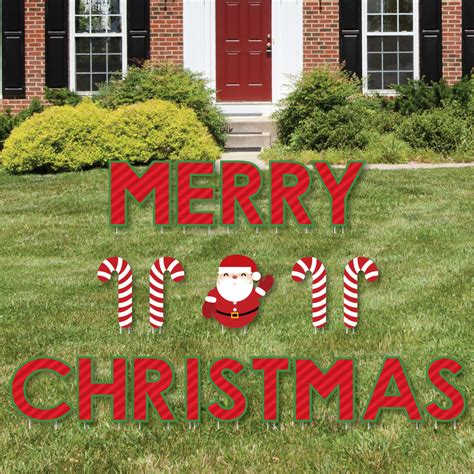 merry christmas outdoor decorations merry yard sign outdoor lawn decorations yard signs 842576142216 ebay
