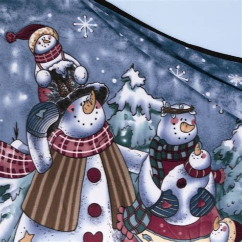 premier christmas decorations snowman fleece throw