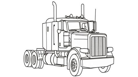 Freightliner truck coloring pages kenworth log clipart kid