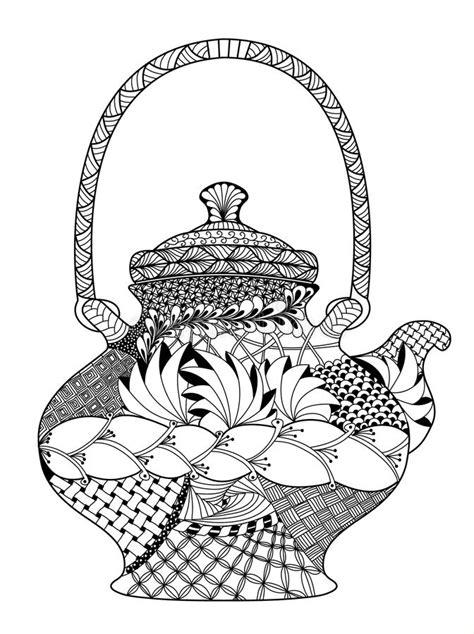 in hohem grade teekanne in hohem grade ausf 252 hrliche illustration im zentangle vektor abbildung bild 64904855