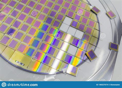 silicon wafer  microchips fixed   holder