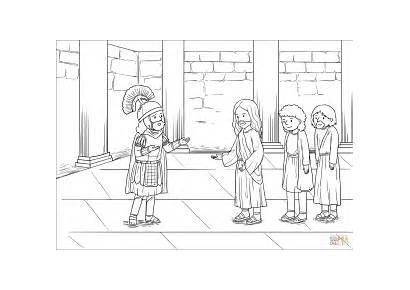 Centurion Jesus Coloring Servant Pages Capernaum Heals