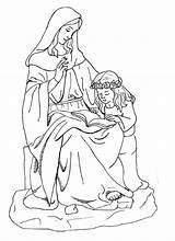 Coloring Mary Anne Saint Catholic Virgin Blessed Saints Mother Anna Clipart Sheets Lady Joseph Dominic Colouring Drawing Savio Scribd Crafts sketch template