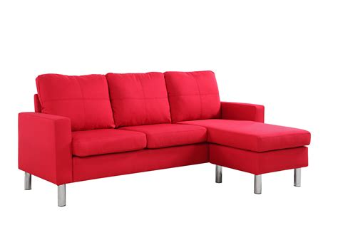Small Modern Loveseat by Modern Small Space Reversible Linen Fabric Sectional Sofa