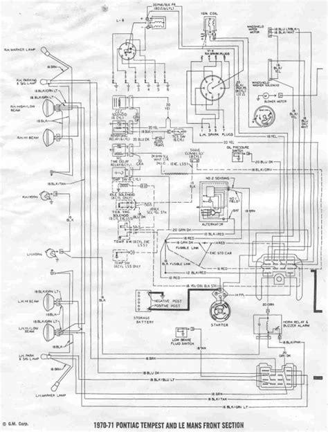 1970 Pontiac Wiring Diagram by Lemans Wiring Diagram 1963 Pontiac Tempest