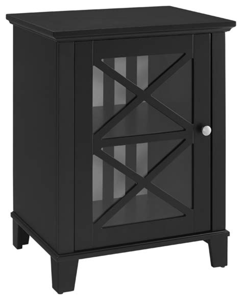 Small Accent Cabinet - rapture awning stripe small cabinet transitional