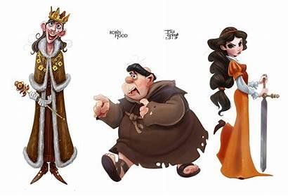 Character Robin Hood Animation Behance Characters Cartoon