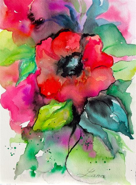 abstract watercolor paintings of flowers part 1 weneedfun