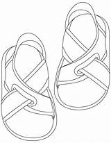 Sandals Coloring Printable Flip Flop Flops Shoes Sheets Colouring Template Shoe Drawing Preschool Bestcoloringpages Paper Popular sketch template