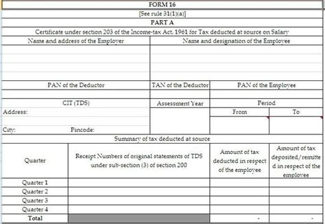 income tax section 16 what is form 16 for income tax in india quora
