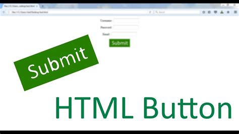 html submit button tutorial using input type image youtube
