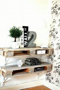 étagère En Palette : meuble en palette 34 id es fra ches de diy d co naturelle ~ Dallasstarsshop.com Idées de Décoration