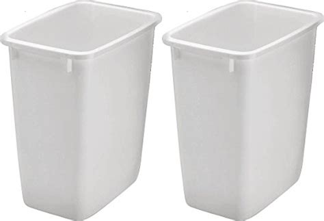 rubbermaid kitchen trash cans tp wht qt open wastebasket white pack  ebay