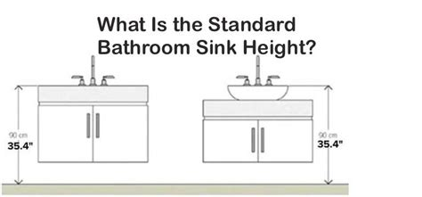 standard countertop height what is the standard bathroom sink height