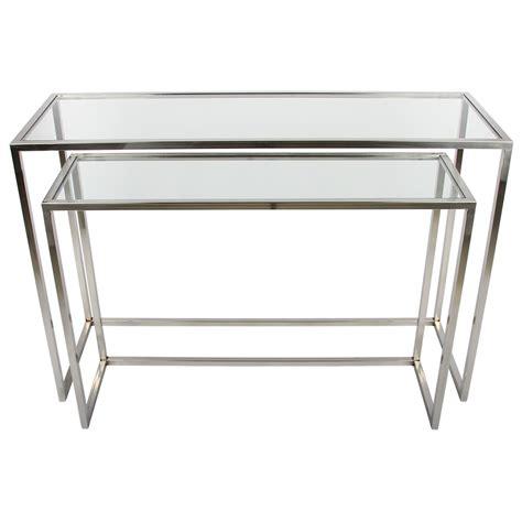 Sideboard Glas Metall by 2er Set Sideboard Glas Metall Wandtiisch Verchromt Metall