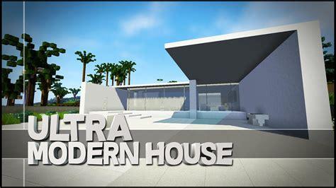 Minecraft Creative Showcase  Ultra Modern House Youtube