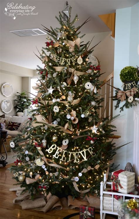 decorating tree with burlap ribbon my hunt country aka inspired by ralph