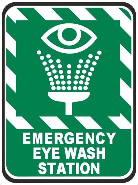 stencils for walls emergency eye wash station sign