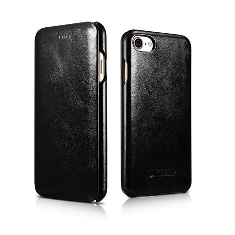 iphone 7 flip leder echt leder schutz h 252 lle f 252 r apple iphone 7 7 plus flip handy tasche cover