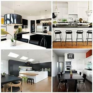 cuisine noir et blanc une deco elegante et intemporelle With decoration cuisine noir et blanc