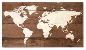world map on reclaimed wood large rustic novelty