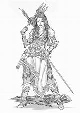 Pirate Deviantart Yamaorce Comm Female Bard Fantasy Character Warrior Dragons Dungeons Armor Characters Rpg Drawings Sketch Warhammer Concept Clothing Viking sketch template